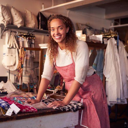 Femme vente Magasin textile